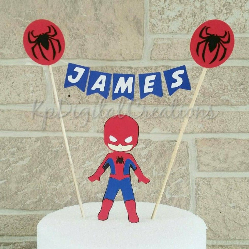 Spiderman Cake Topper Avengers Spider Man Birthday Party Ideas Justice League