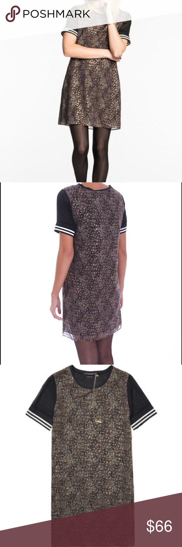 """Scotch & Soda """"Baseball"""" Dress From Scotch & Soda's Fall/Winter 2015 collection is this really comfy yet stylish airy dress. Really just falls on the body. Worn a handful of times, but is in perfect conditions, I always hand washed this piece and never put it in the dryer! Love love love Scotch & Soda Dresses Midi"""
