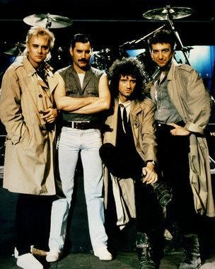 Queen Band Freddie Mercury Brian May John Deacon and Roger ...