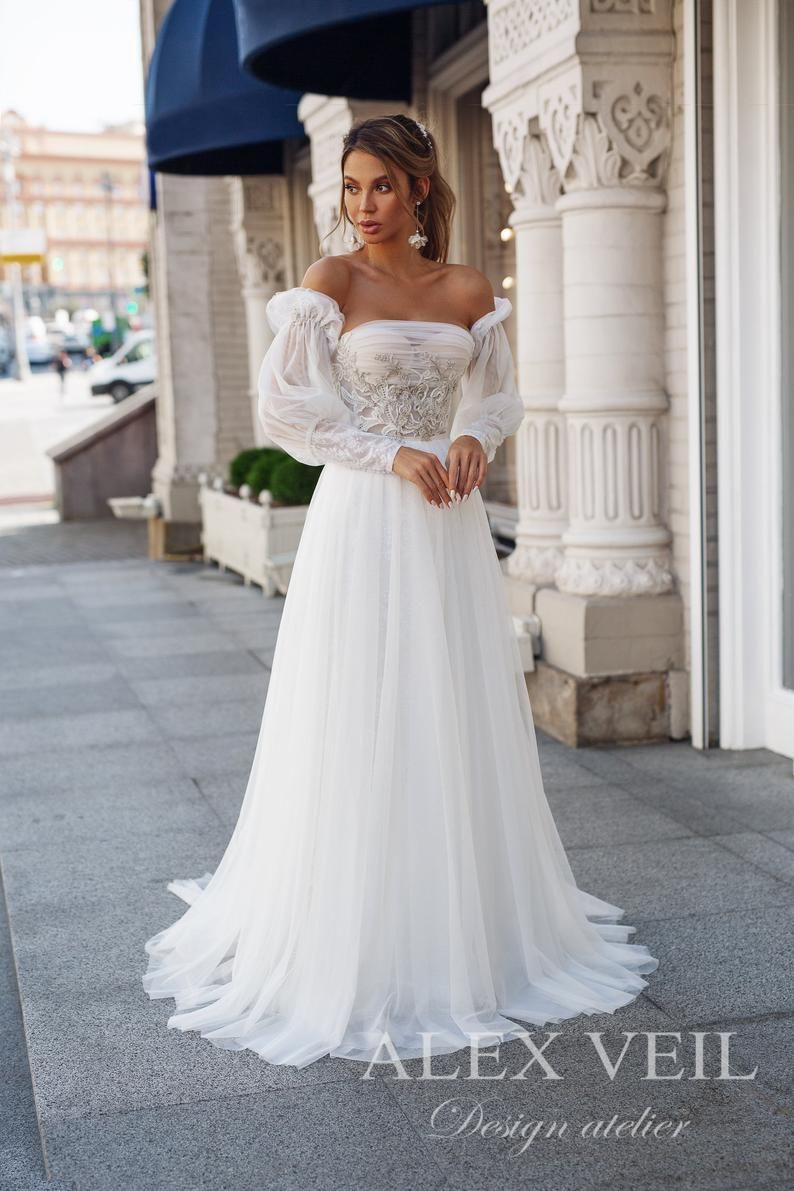 Wedding Dress Agnia Romantic A Line Lace Wedding Etsy In 2020 Wedding Dresses Near Me Affordable Wedding Dresses Marriage Dress