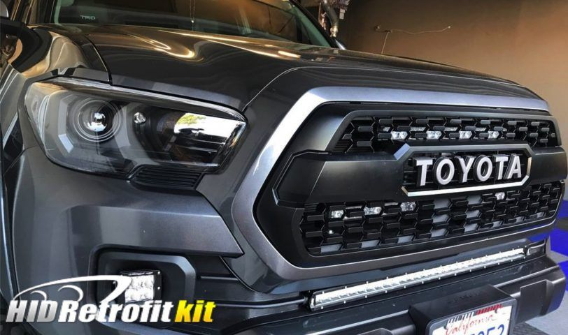2016 2017 Toyota Tacoma Hid Retrofit Bixenon Lexus Rx350 Lights Headlights High And Lowbeam Projector Halo Lamp Hidretrofitkit