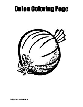 Onion Coloring Page Classroom Coloring Pages Vegetable