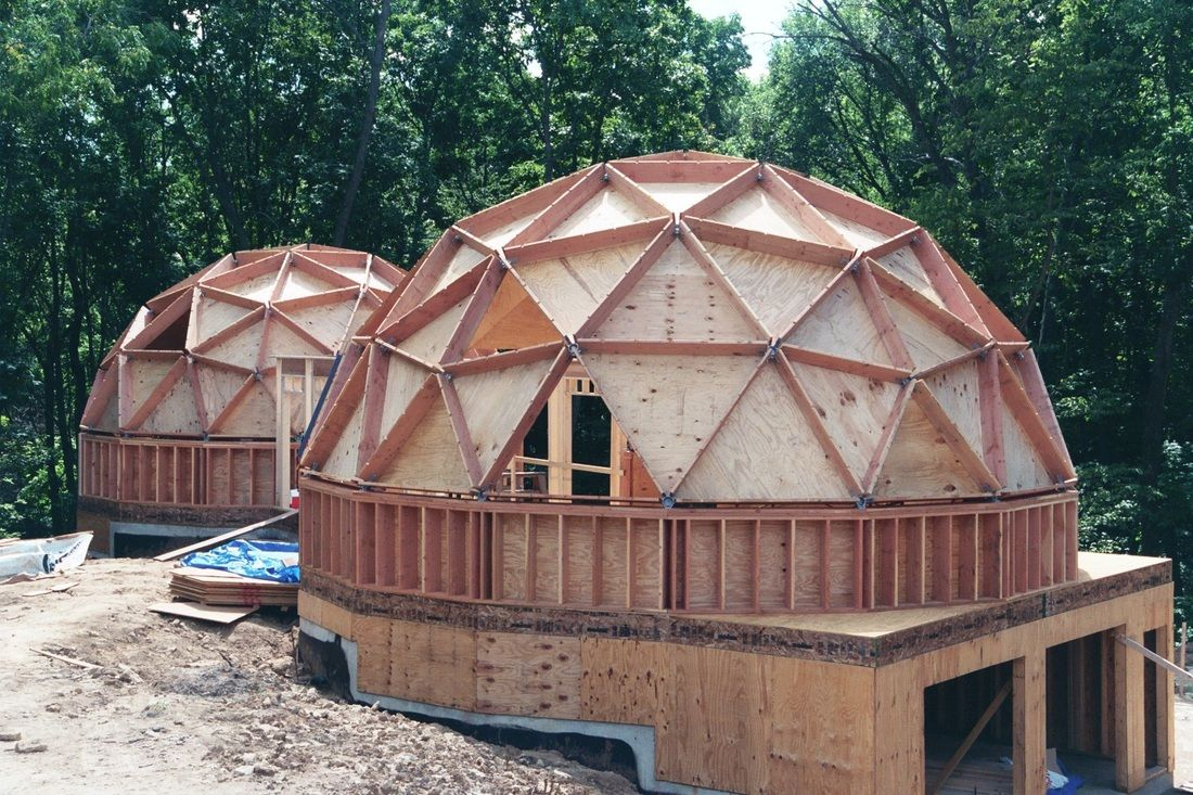geodesic dome from foam panels Google