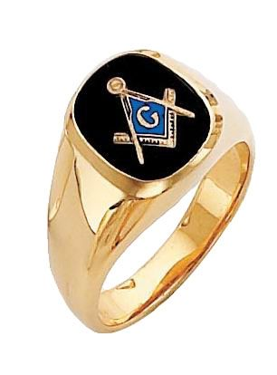 Masonic 3rd Degree Blue Lodge Ring with Open Back