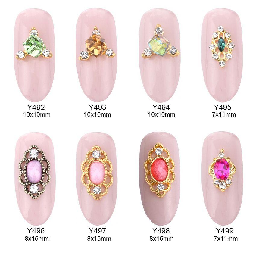 10 pz Hot pink pietra scintillio fascini della lega per bellezza del chiodo 3d della decorazione di strass gemme gioielli Y492