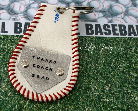Baseball Coach Keychain Key Chain / Coach by YourRiley5Jewelry