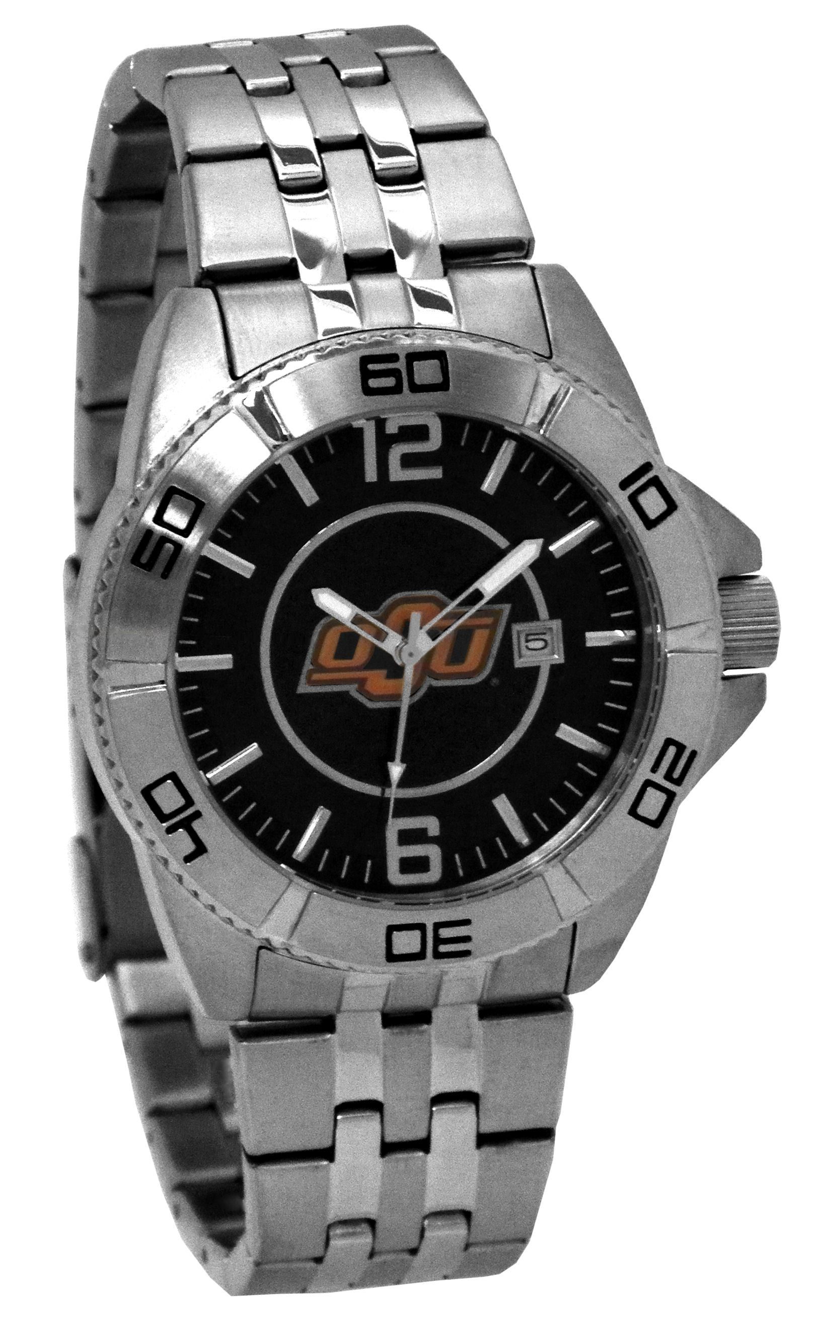 Stainless Steel Men's OSU Watch #OkstateJewelry
