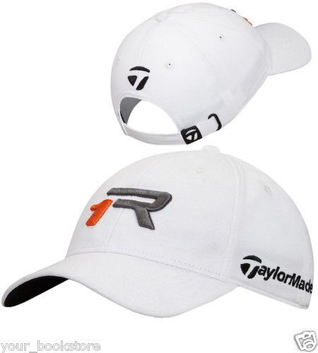 New TaylorMade R1 Tour Adjustable Taylor Made Golf Caps White Hat Lids Cap 6c074d6e22f