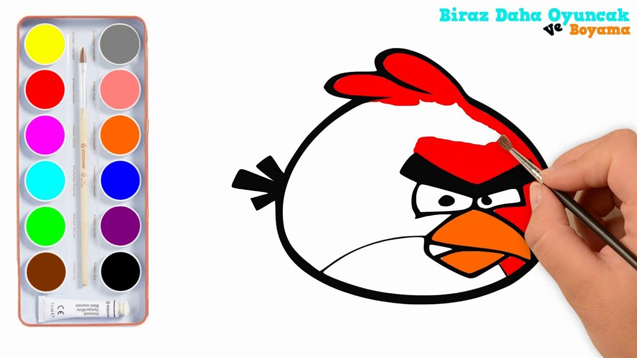 Angry Birds Boyama çocuklar Için Boyama Videoları çocuk