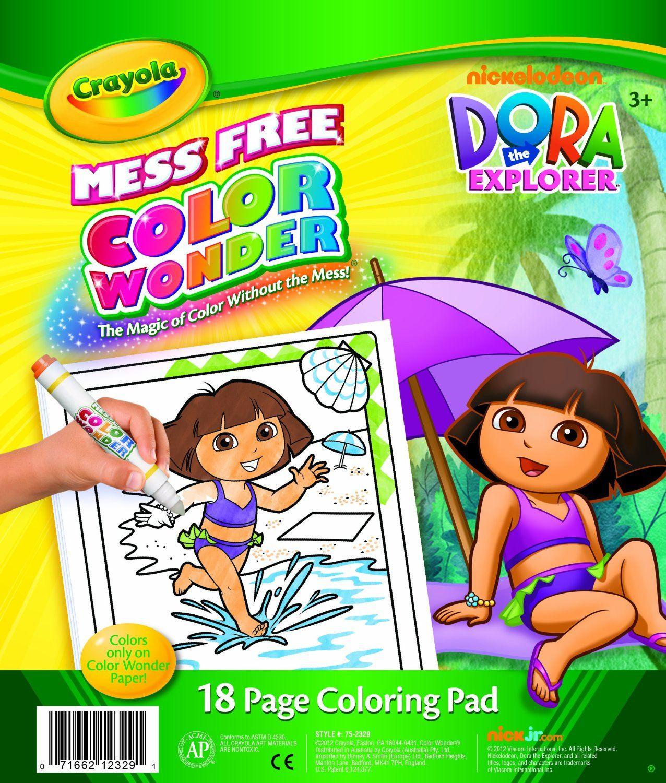 Crayola Color Wonder kouzelné omalovánky Dora průzkumnice | For my ...