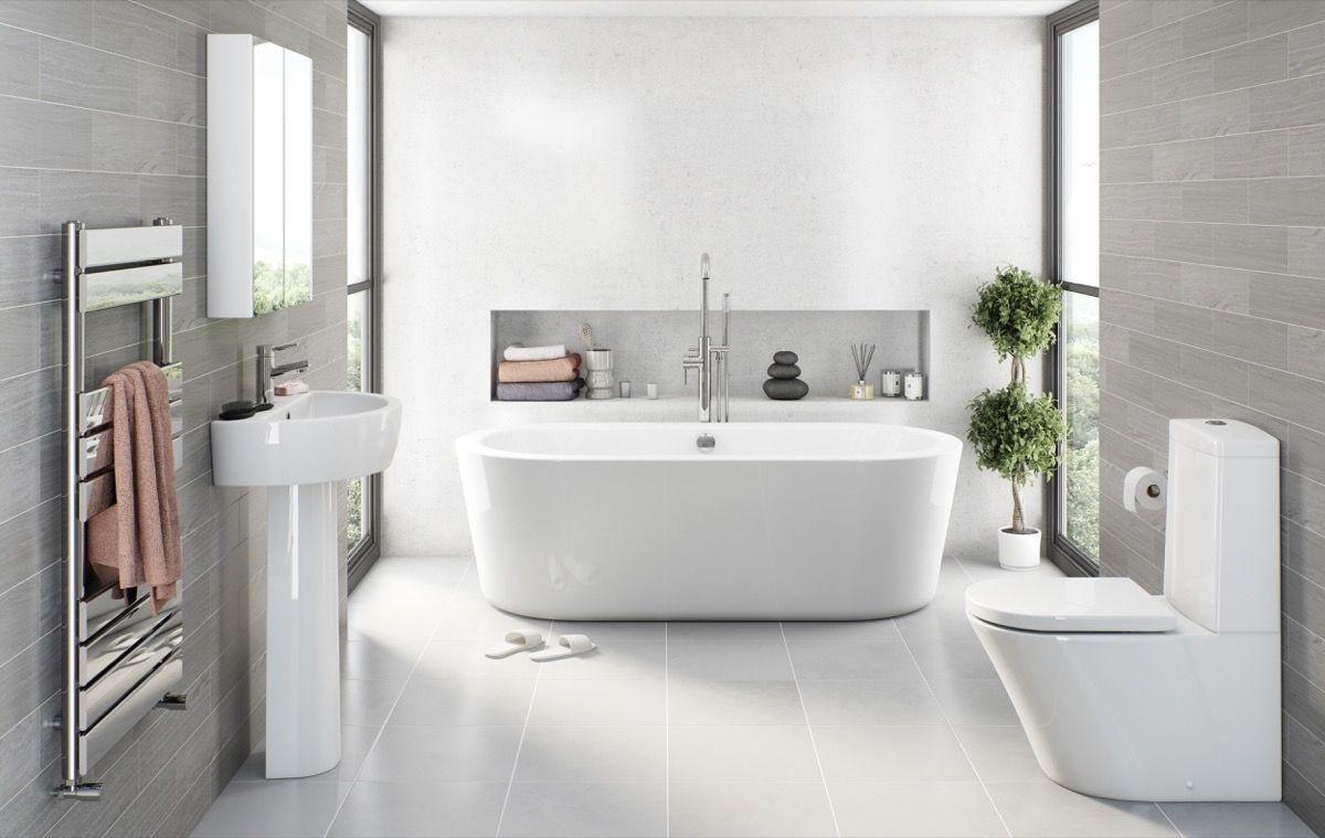 Light Gray Bathroom Floor Tile | Bathroom Exclusiv | Pinterest ...