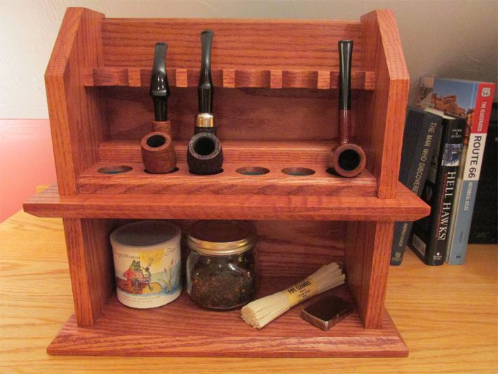 Craftsman Cottage Smoking Pipe Rack Plans This Easy To Build Project Holds Up 6 Pipes With Room For And Accessories