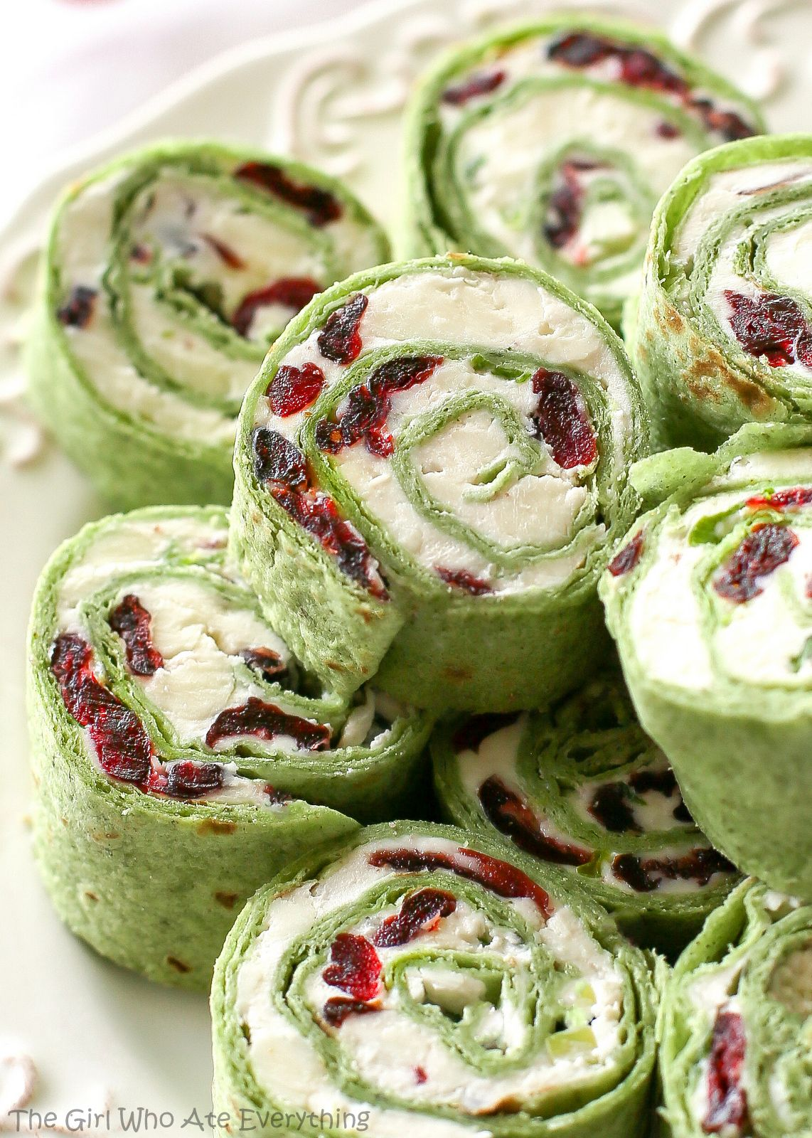 Cranberry and Feta Pinwheels Recipe New years