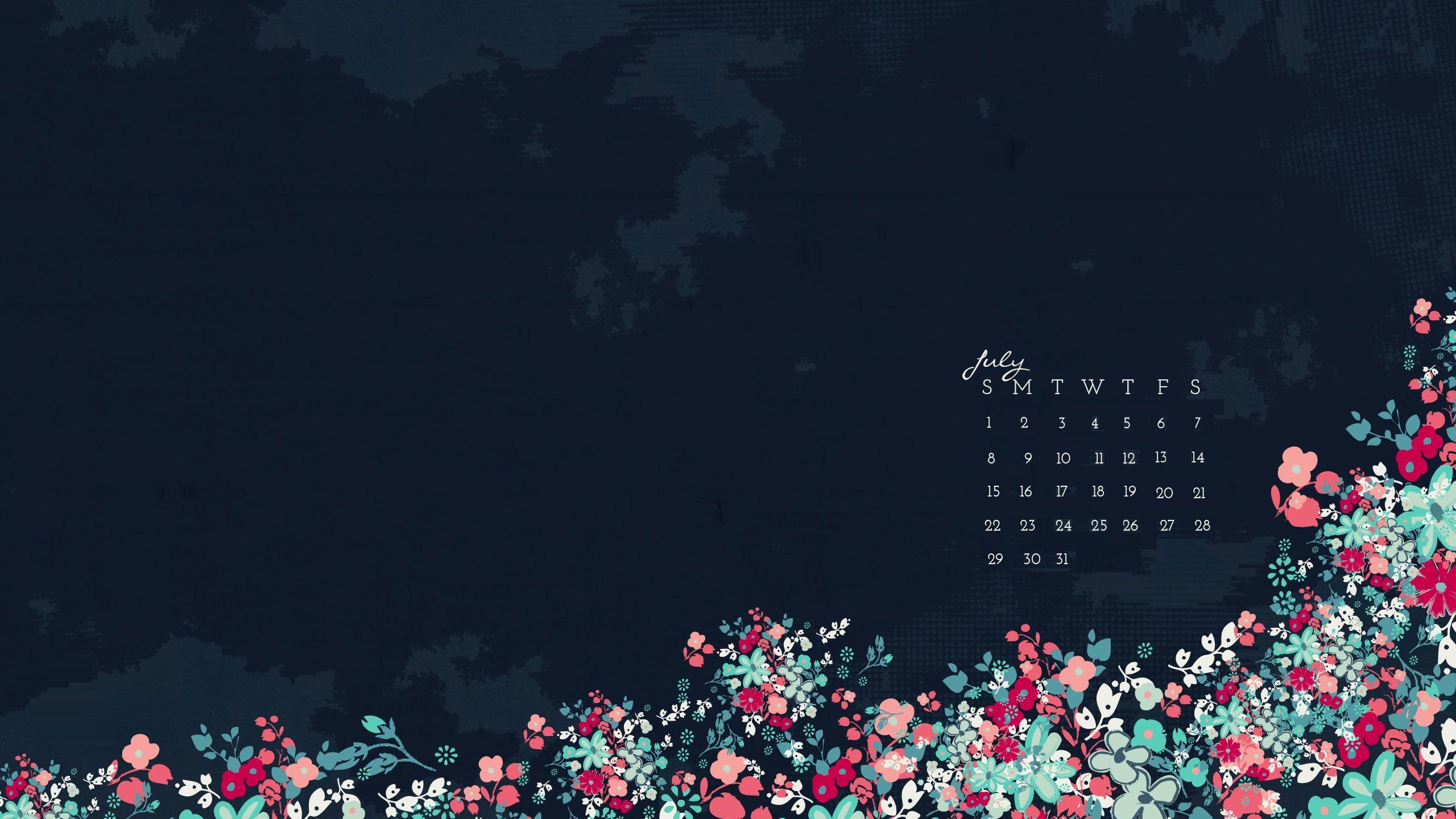 July 2018 Desktop Calendar Wallpapers Calendar Wallpaper Wallpaper Art Drawings Simple