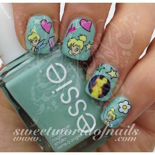 Tinker Bell Fairy Nail Art Water Decals Transfers Tinker Bell