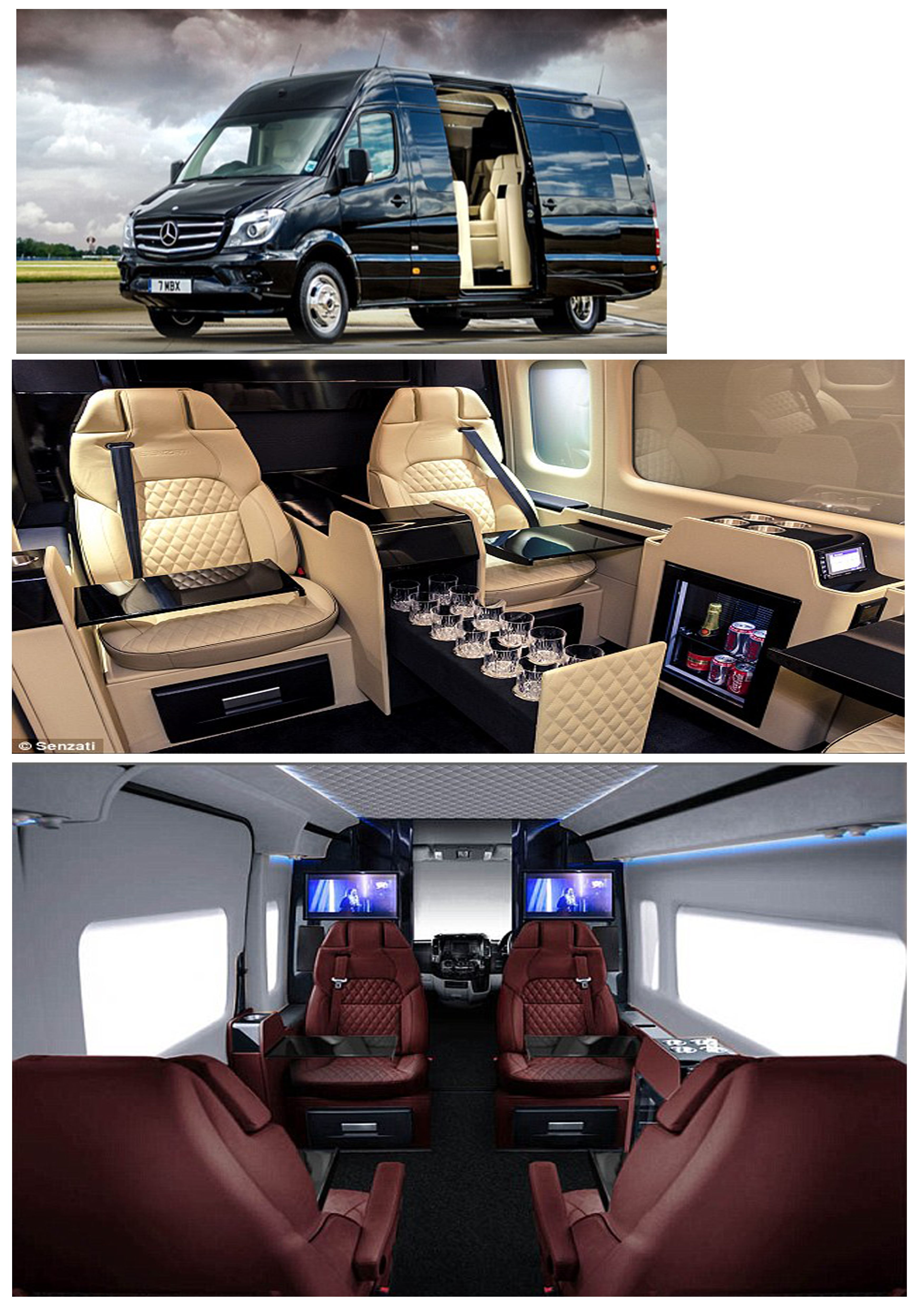 Senzati jet sprinter is a luxuriously modified mercedes sprinter van