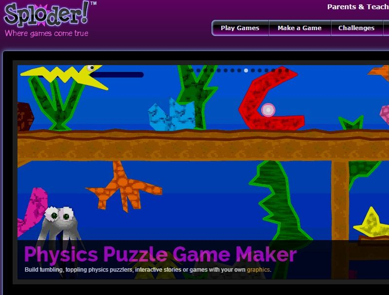 Sploder Make your own Games, Play Free Games Make your