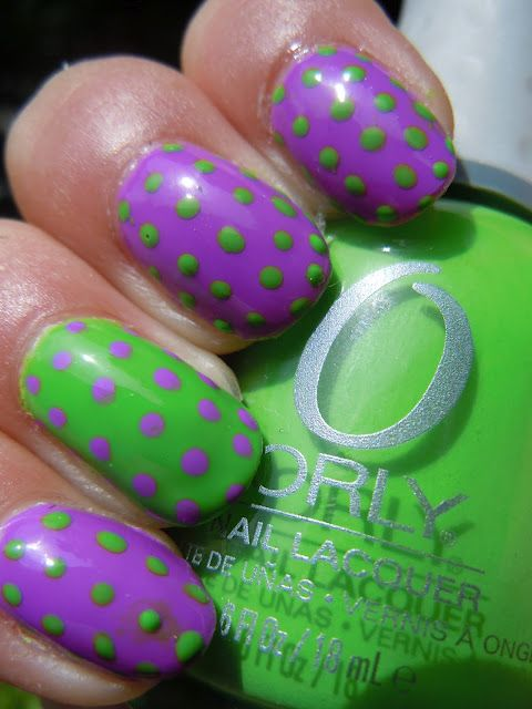 cute spring mani with Orly Frolic and Fresh | Makeup | Pinterest