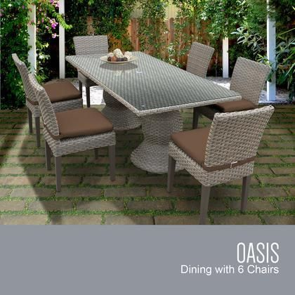 Oasis Rectangle Kit 6c Cocoa Oasis Rectangular Outdoor Patio