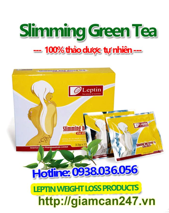 Leptin Slimming Bag Green Tea-Trà xanh giảm cân