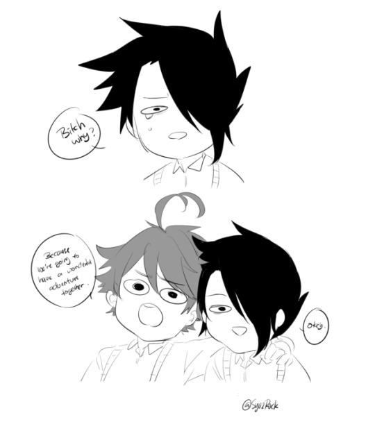 Norman and emma the promise neverland | Tumblr | Neverland