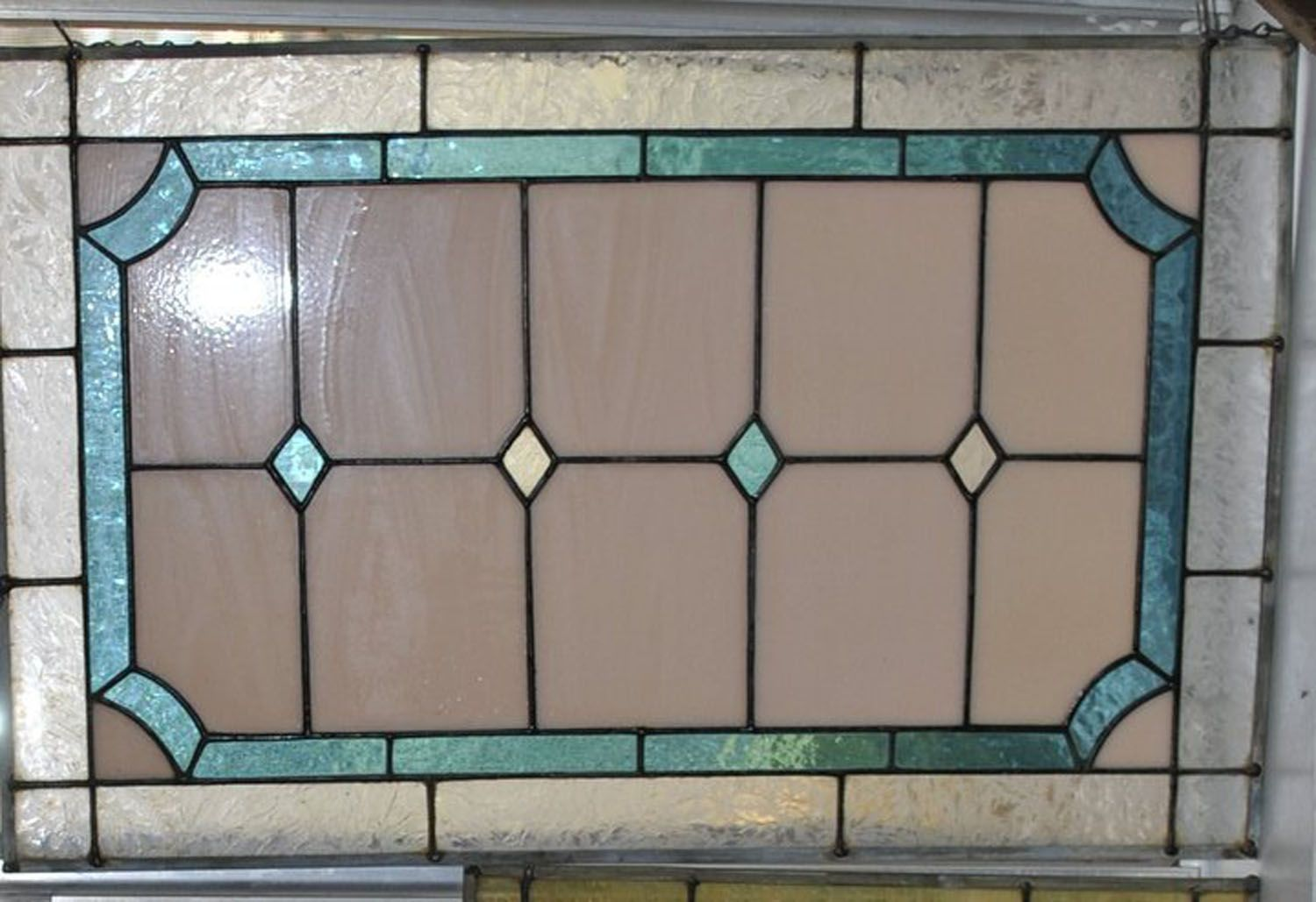 Stained Glass Art Deco Panel 12 X 24 Inches Valued At 55 Stained Glass Art Stained Glass Glass Art