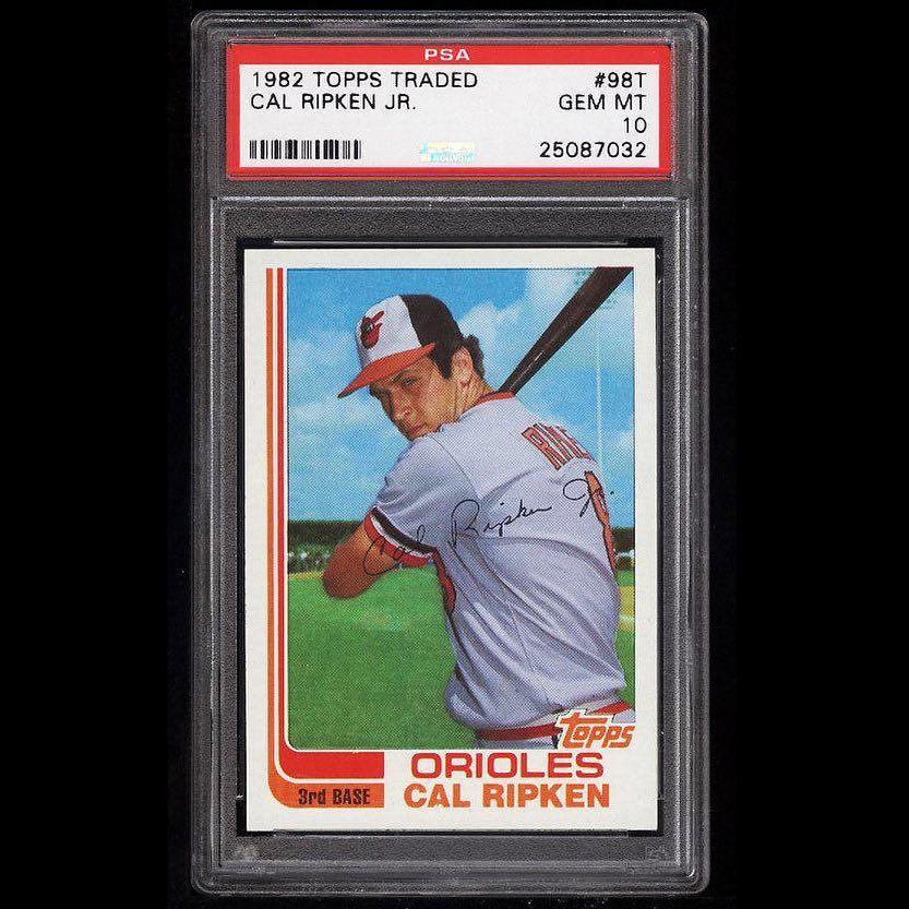 1982 topps traded 98t cal ripken jr psa 10 currently