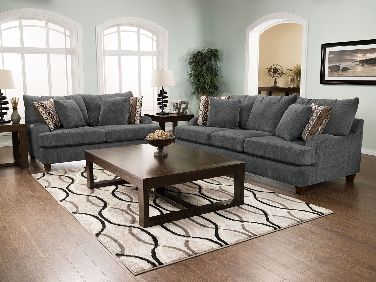 Putty Chenille Sofa - Grey | Rec room | 3 piece sectional ...