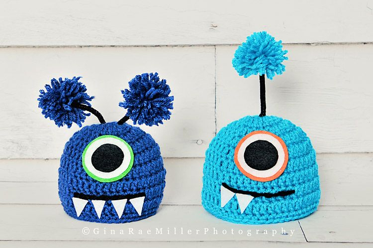 MONSTER HATS CROCHETED - Google Search