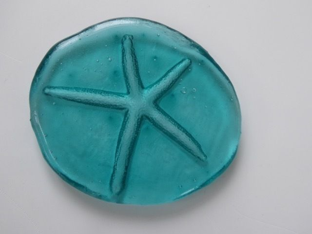 Fused Glass Casting of Starfish Paperweight Sculpture https://folksy.com/shops/Arkglass