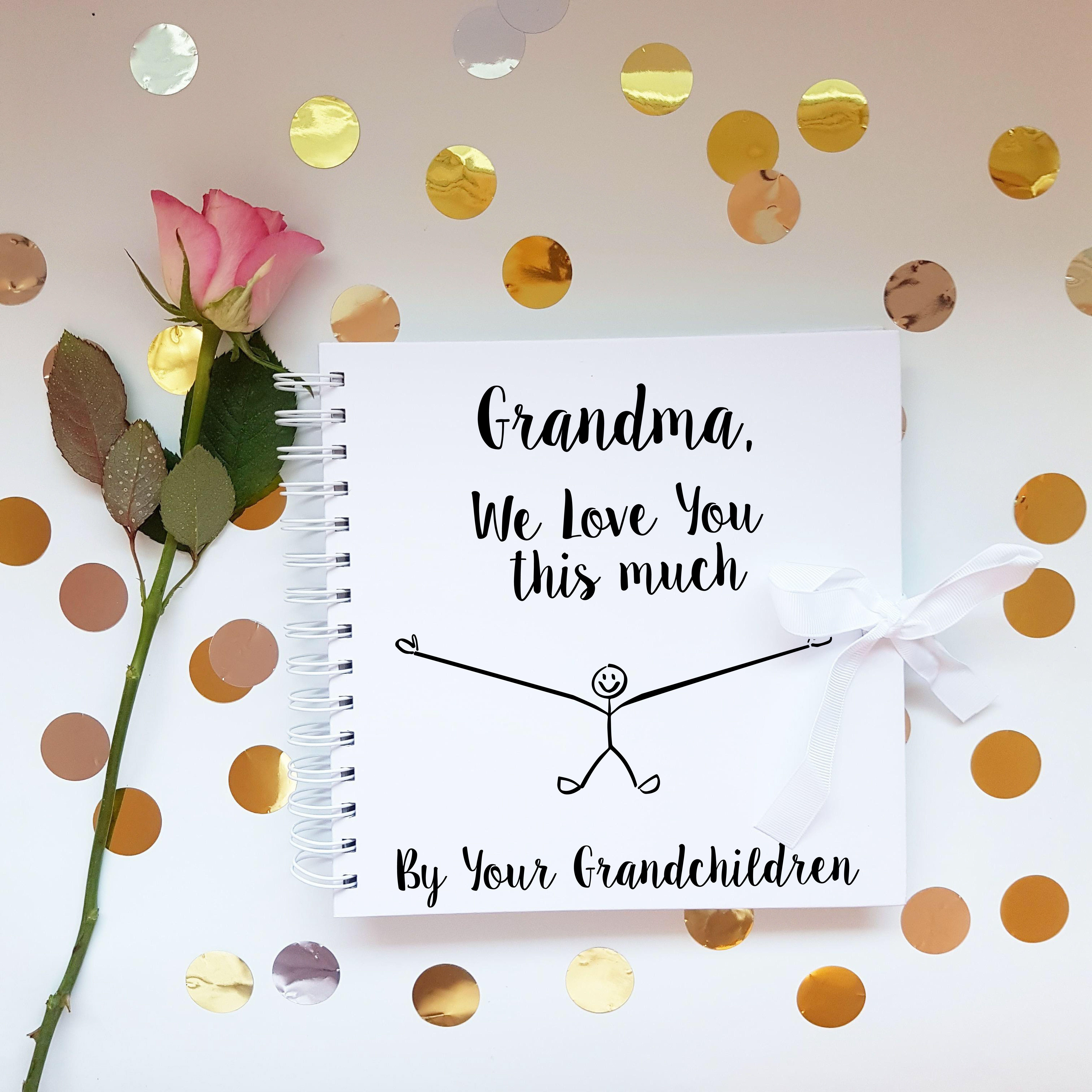 PERSONALISED NANNA WOODEN SCRAPBOOK//PHOTO BOOK //MEMORIES