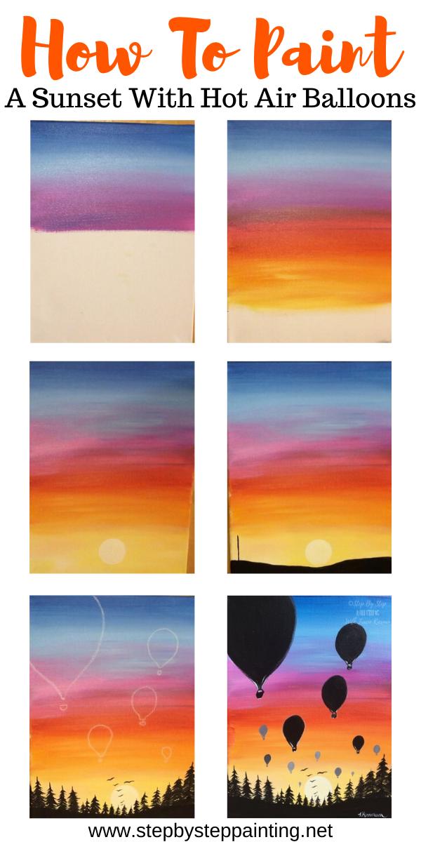 Sonnenuntergang malen - Lernen Sie mit Acrylfarben einen einfachen Sonnenuntergang zu malen #...