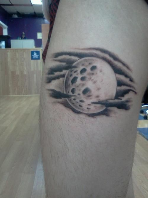 Full Moon With Clouds Tattoo Moon Tattoo Designs Full Moon Tattoo Cloud Tattoo