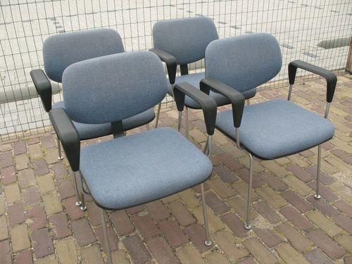 Dutch Gispen 'D09' Chairs #Dutch #nederlandse #gewoon #gidpen #design #blue #classic #60s #four  #tbt #furniturefindingservice #vintage #retro #euvintage