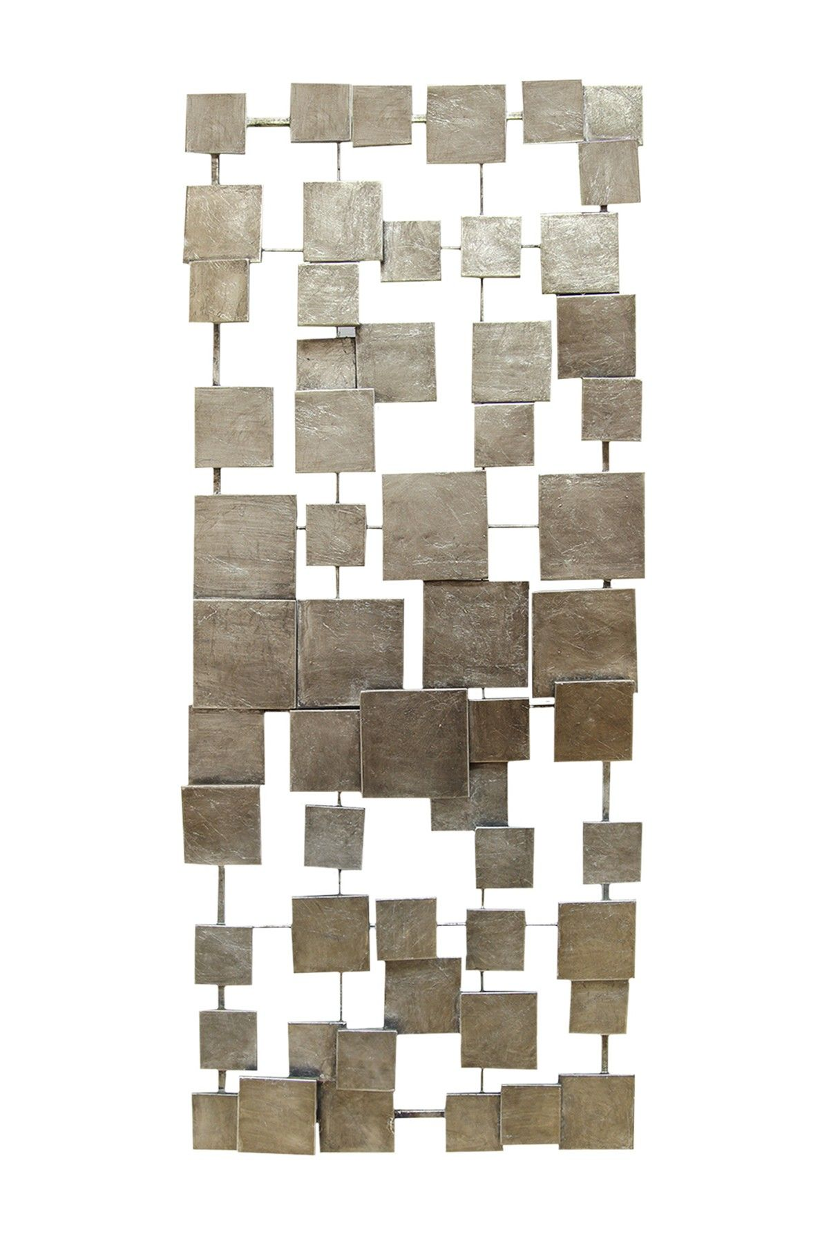 Geometric Tiles Champagne Wall Decor