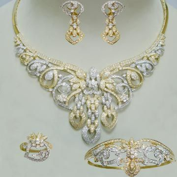 بالصور احدث تشكيلة شبكة العروسة والدبله 2014 Jewelry Diamond Necklace Diamond