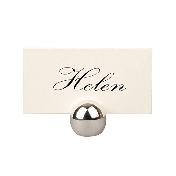 Tischkartenhalter U201cSilberne Kugelu201c Zur Hochzeit   Weddix