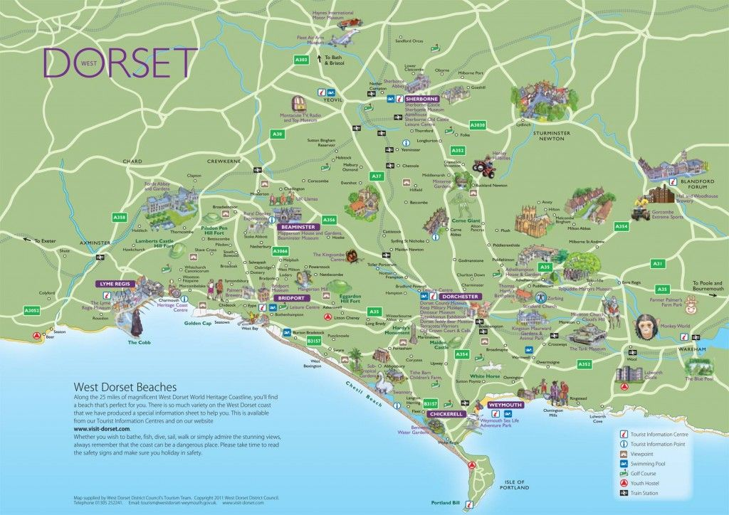 Dorset England Map on