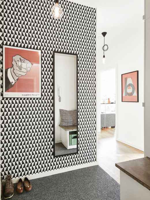 Mid Century House Graphic Design Wallpaper