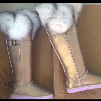 fluffy ugg boots