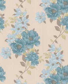 Vintage Rose Wallpaper Blue Vintage Flower Wallpaper Blue