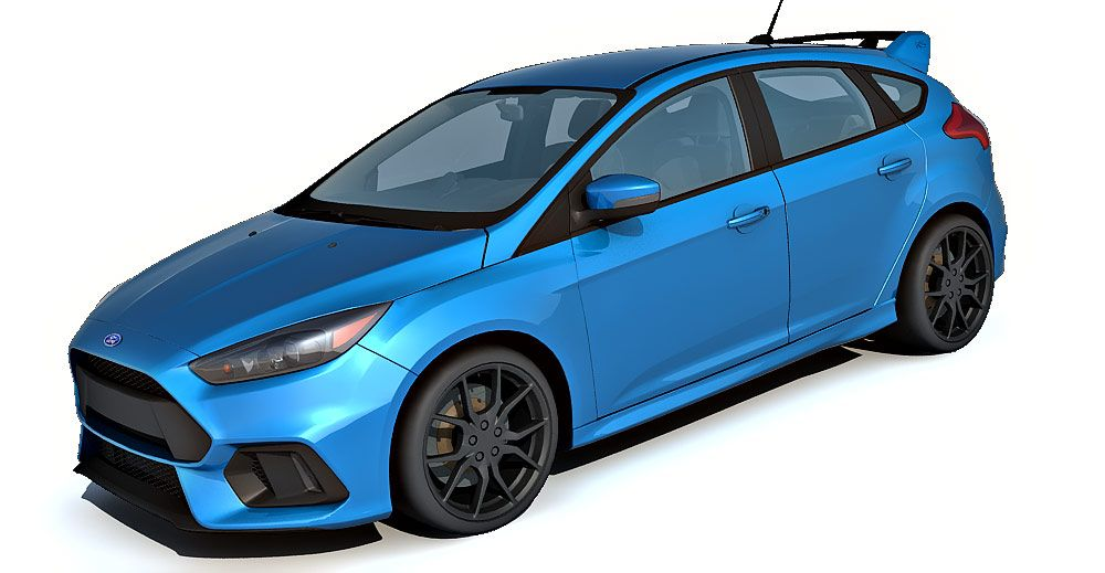 Ford Focus Rs 3d Model Ford Focus Rs Ford Focus Focus Rs
