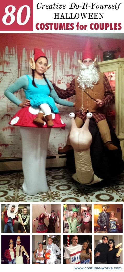 80 creative diy halloween costumes for couples home made halloween 80 creative diy halloween costumes for couples milkman and housewife stanley cup and penguinmail order bride and fed ex man jack and sally are some solutioingenieria Choice Image