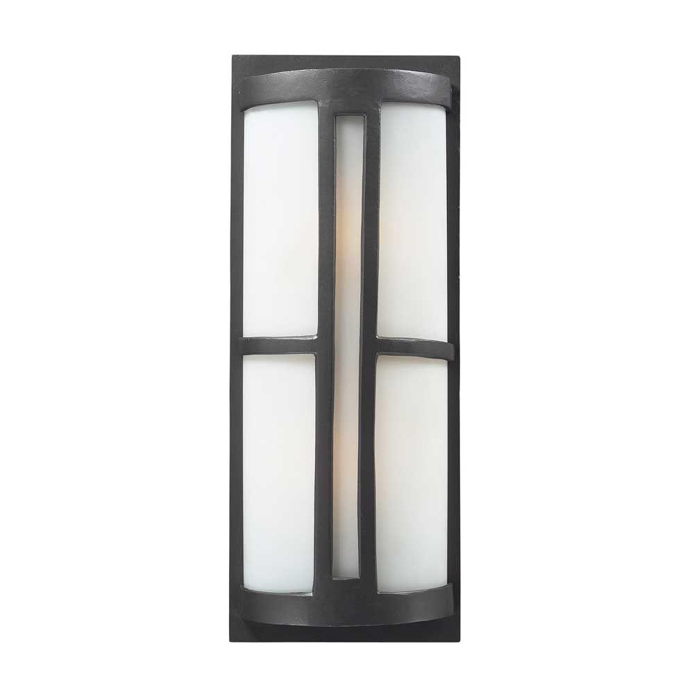 Elk light outdoor sconce in graphite modern lighting u mirrors