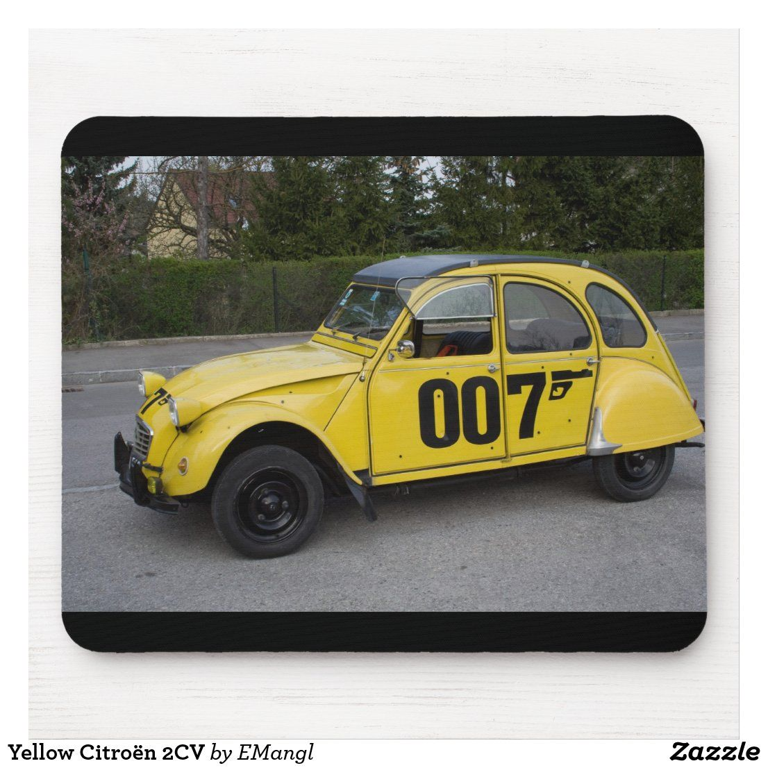 Yellow Citroen 2cv Mouse Pad Zazzle Com In 2021 Famous Movie Cars Cars Movie Tv Cars