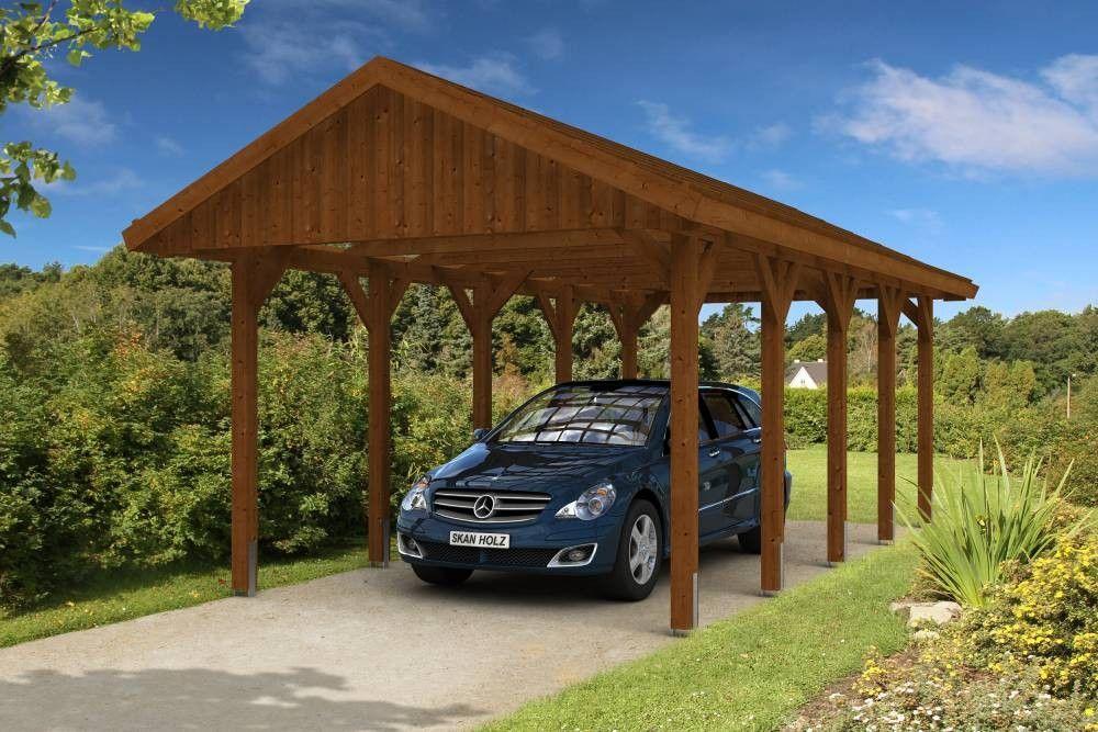 Klassischer Wetterschutzihr Autoimpragniertem Nadelholz Das Skan Holz Carport Sauerland Verfugt Globusbaumarkt Skanhol In 2020 Carport Holz Gartenzubehor Carport