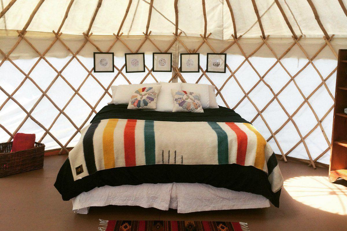 Get Cozy in a Private Island Yurt in Nova Scotia, Canada
