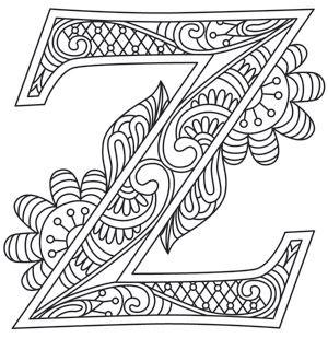Letter Perfect - Letter Z design (UTH7617) from UrbanThreads