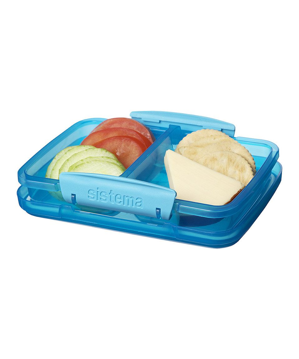 This Sistema Blue 11.8-Oz. Split Container by Sistema is perfect ...