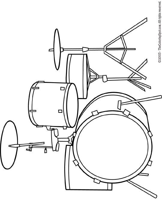 Coloring Page For G Kids Stuff Pinterest Instruments
